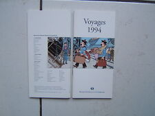 HERGE / TINTIN /  VOYAGES 1994 /  POUR BANQUE GENERALE DU LUXEMBOURG  / GUIDE ..