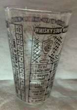 Bartenders Liquor Measuring Mixer Glass Drink Recipes Glasses 6 inches