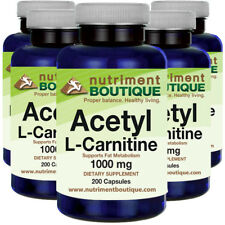 Acetyl L-Carnitine 1000mg 5X200 Caps by Nutriment Boutique