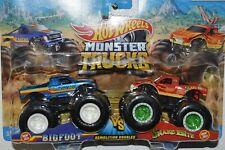 2021 Hot Wheels Monster Trucks Bigfoot Vs Snake Bite Demolition Doubles Diecast