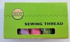 Vintage Nelco Fast Colors assorted Lot of Sewing Thread Wooden spools Italy