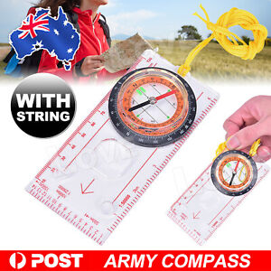 ORIENTEERING BASEPLATE COMPASS Hiking Camping Maps Lensatic Tactical Army Gear