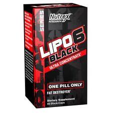 LIPO 6 BLACK ULTRA CONCENTRATE 60 capsulas -QUEMADOR DE GRASAS - NUTREX