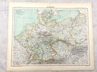 1894 Antik Map Of Deutschland Die Deutsche Reich Original 19th Jahrhundert Alte