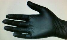 10 BLACK LATEX POWDER FREE DISPOSABLE GLOVES MEDIUM TATTOO,MECHANIC