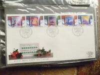 1988 ROYAL MAIL SET OF 5 CHRISTMAS ISSUES STAMPS FIRST DAY COVER