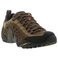 Merrell Intercept Mens Black Brown Leather Walking Hiking Trail Shoes Size 7-14