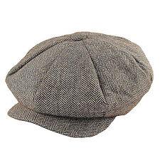 Jaxon Brown Herringbone Big Apple Newsboy Cap Peaky Blinders Style Gatsby Hat