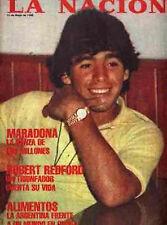 DIEGO MARADONA Rare LA NACION Magazine 1980
