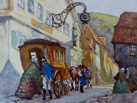 ABREISE  -   Kunstdruck nach Rudolf POESCHMANN (1878-1954)