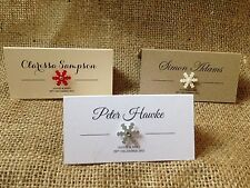 Personalised 3d snowflake place cards / name cards winter christmas wedding