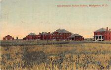 North Dakota postcard Wahpeton Government Indian School ca 1918