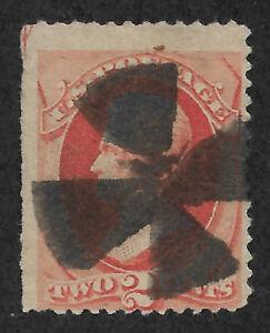 US # 183 (1879) 2c Used - VG  EFO: Guide Arrow @ UL corner 1/200