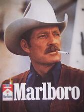 PUBLICITÉ DE PRESSE 1984 MARLBORO --- COW-BOY