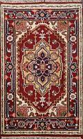 Decorative Heriz Serapi Geometric Oriental Hand-Made Area Rug For Kitchen 3x4 ft