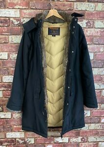 Womens Woolrich Boulder Down Filled Hooded Jacket Coat Small  8 /10 : J801