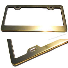 For BMW Cadillac Chevy Gold Powder Coated Stainless Steel License Plate Frame