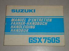 Manuel Moto suzuki GSX 750 s stand 06/1981