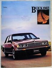 1982 BUICK CENTURY AUTOMOBILE DEALERS ADVERTISING SALES BROCHURE GUIDE VINTAGE