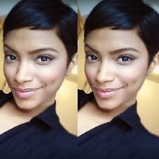 Human Hair Wigs Short Styled Pixie Cut Wig for Women Black Color 1B Brazilian