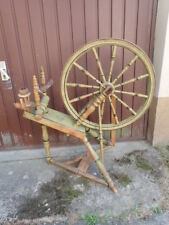 Tolles großes  antikes Spinnrad aus Schweden