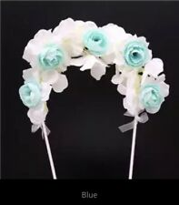 Flower Arch Cake Topper ~ Blue Or Pink Variety