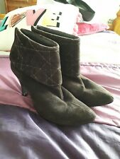 Dolcis Brown suede shoe/ankle Boots, Size 6, foldover tops