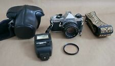 Pentax Mg Slr W/ 50Mm f2 Lens, Accessories, Film Tested, Works Great, Compact