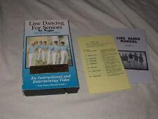 Line Dancing for Seniors Vols. 1 & 2 VHS w/Dance Manuals Instructional Exercise