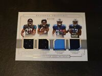 2017 National Treasures Rookie NFL Gear Quad Materials #2 Fournette, Westbrook,