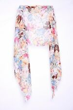 The Blossom Orange Pink Magenta Brown White Flowers Casual Colorful Scarf (S47)