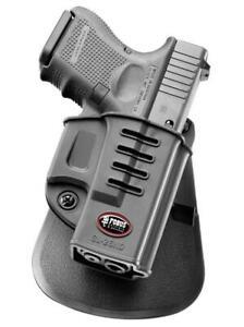 New Fobus Model GL-26ND LEFT HAND Black Paddle Holster For Glock 26