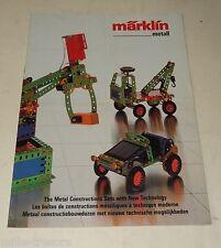 Ancien CATALOGUE MARKLIN Metall : Boîtes de CONSTRUCTION METALLIQUES