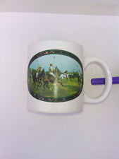 Ralph Lauren RL Coffee Mug Cup Polo Player Horse Tartan 12 oz. Vintage 1978