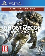 PS4 PLAYSTATION 4 TOM CLANCY'S GHOST RECON BREAKPOINT DVD NUOVO ORIGINALE