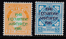 Eire Ireland 1941 Mint MLH Full Set 2 values Easter Rising Overprint SG 126-127