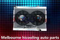 3 rows 56mm Aluminum Radiator + Fan for Holden Torana LJ LC LH LX V8 chev engine