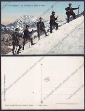 VALLE D'AOSTA COURMAYEUR 193 ALPINISMO - MONTE BIANCO - CONFINE Cartolina