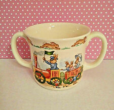 Royal Doulton Bunnykins Sippy Cup Child Double Handle English Fine Bone China