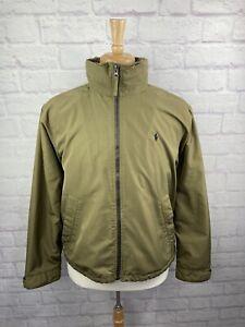 Polo Ralph Lauren Polyester Hooded Winter Jacket Fleece Lined Mens Medium Brown