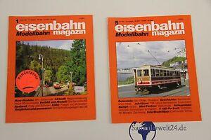 2 vers. Hefte Zeitschrift Modelleisenmagazin Modellbau 1-1993 und 5-1995