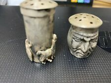 "Vintage Coin Silver ""Inca and Llama"" Salt and Pepper from Peru...........ed"