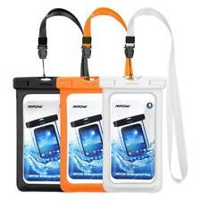 Mpow 3 Pack Pochettes Etanches Téléphone, Etui/Housse/Coque Noir+blanc+orange