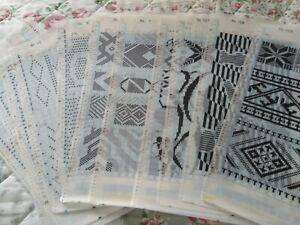 Pre-Printed Mylar Pattern Sheets for Brother Electronic knitting machine