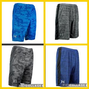 NEW Mens Under Armour Gym Loose HeatGear Athletic  Logo Shorts M L XL XXL