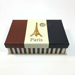 Gift Box Container Paris French Flag Eiffel Storage Crate Storage Organizer Pod