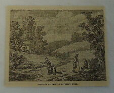 small 1882 magazine engraving ~ MODERN TAPESTRY