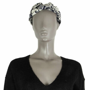 61838 auth CHRISTIAN DIOR black & white TOILE DE JOUY Headband