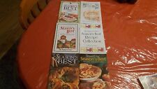 LOT OF 6 PAMPERED CHEF SEASON'S BEST RECIPE COLLECTIONS 96,97,98,2000,2000,01