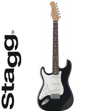 """NEW Stagg S300LH 39"""" Full Size ST Style Electric Guitar LEFT HAND - Black"""